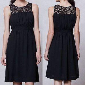 ANTHROPOLOGIE HD in Paris Lace-Yoke Dress Black